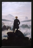 Wanderer Above the Sea of Fog Prints by Caspar David Friedrich