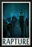 Rapture Retro Travel Poster Poster