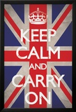 Keep Calm And Carry On, en inglés Pósters