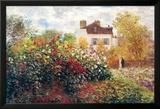 Claude Monet, kunstnerens hage, kunsttrykk Plakat av Claude Monet