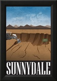 Sunnydale Retro Travel Poster Posters