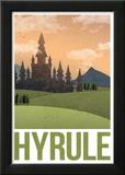 Hyrule Retro Travel Poster Poster