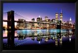 Brooklyn Bridge le soir en couleurs Affiches