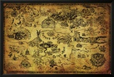 Zelda- Hyrule Map Photo