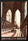Brooklyn Bridge- Vintage Print