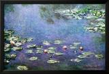 Wasserlilien Poster von Claude Monet