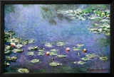 Waterlilies Posters av Claude Monet