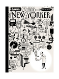 The New Yorker Cover - November 16, 2015 Regular Giclee Print by Christoph Niemann