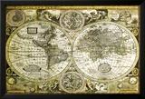 Carte du monde historique Posters