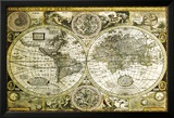 World Map-Historical Prints
