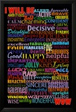 I Will Be (Motivational List) Art Poster Print Poster