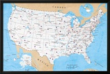 Map Of USA- Road Map Posters