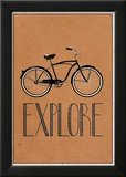Explore Retro Bicycle Player Art Poster Print Lámina