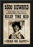 Billy The Kid Western Wanted Sign Print Poster Posters