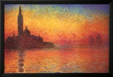 Monet Dusk Venice Affiches van Claude Monet