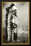 Chief White Cloud (Native American Wisdom) Art Poster Print Affiches
