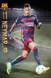 Barcelona- Neymar Action 15/16 Kunstdruck
