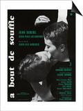 Breathless, 1960 (A Bout De Souffle) - Poster