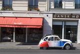 Street Scene with Deux Chevaux Car, Paris, France Photographic Print by Natalie Tepper