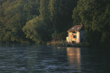 House on the Rhone River, Surronded by Trees, Geneva Photographic Print by Marcel Malherbe