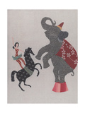 The Circus; the Elephant, Pony and the Acrobat Plakaty autor Susie Jenkin Pearce