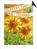 Sunflower Give Thanks Everyday Prints by Melinda Hipsher