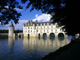 Chenonceau Castle, Loire, View of Chateau Through Trees Photographic Print by Marcel Malherbe