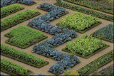 Cabbages and Chard Planted in Patterns in the Great Potager at the Chateau De Villandry, France Fotografisk tryk af Clive Nichols