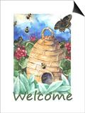 Beehive Welcome Poster by Melinda Hipsher
