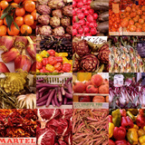 Multiple Views of Colourful Fruit and Vegetable Produce in Venice, Italy Photographic Print by Mike Burton