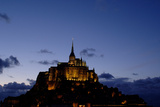 Mont Saint Michel Is a Tidal Island in Normandy, Approximately One Kilometre Off the French Coast Photographic Print by  LatitudeStock