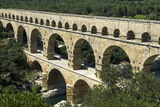 The Aqueduct, Built by the Romans in 19 BC, Carried Water to Nimes across the River Gard Photographic Print by  LatitudeStock