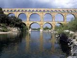Pont Du Gard Near Remoulins, Roman Aqueduct - Languedoc, France Photographic Print by Sigrid Schutze-Rodemann