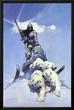 Silver Warrior Prints by Frank Frazetta