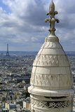 France. Paris. Sacre Coeur. Montmartre. Eiffel Tower Photographic Print by  LatitudeStock