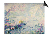 Boats in the Harbour Prints by Paul Signac