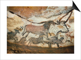 Cave of Lascaux, Great Hall, Left Wall: First Bull, Red Horse, Brown Horses, C. 17,000 BC Prints