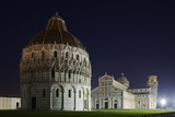 Baptistery (Battistero Di San Giovanni), Duomo and Leaning Tower of Pisa, Piazza Dei Miracoli, Ital Photographic Print by David Clapp