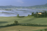 Misty Morning at the 'Belvedere', Val D' Orcia, Tuscany Photographic Print by Joe Cornish