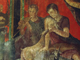 Fresco from the Villa of the Mysteries Photographic Print by Werner Forman