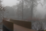 Royal Botanic Gardens, Kew, London. the Sackler Crossing in Fog with Winter Trees Photographic Print by Richard Bryant