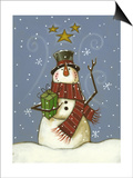 The Snowman's Gift Prints by Margaret Wilson