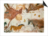 Cave of Lascaux, Ceiling of the Diverticulum: a Horse and Three Cows, C. 17,000 BC Posters