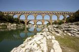 Roman Aqueduct, Vers-Pont-Du-Gard, Languedoc, France Photographic Print by Pol M.R. Maeyaert