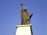 The Lesser-Known Statue of Liberty Perched in the Seine, Paris, France Photographic Print by Natalie Tepper