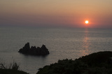Sunset over the Sea from Villagio Maya, Costa Paradiso, Sardinia, Italy Photographic Print by Natalie Tepper