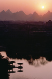 Sunset over the City of Guilin, China, December 1982 Photographic Print by Bill Tingey