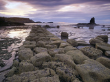 Saltwick Bay Is South of Whitby and the Distinctively Shaped Black Nab Rock Photographic Print by  LatitudeStock