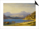 Lake Como with Boats, 1869 Prints by Carl Larsson