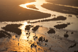Aerial View of the Zambezi River, Tilt Shift Effect Fotografisk tryk af Eric Schmiedl